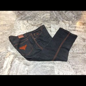 Crest Ankle/Cropped Jeans w/Orange Trim (20)